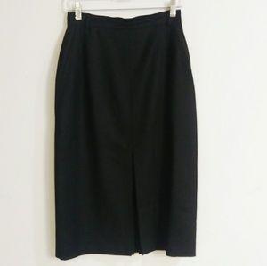 Escada black new wool pencil skirt